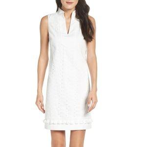 Size 14   Eliza J. Mandarin Collar Lace Shift Dres